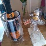 Fridge wine and chocs!