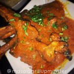 Chef Special Lamb Chop Curry. Tandoori grilled lamb chops in a tasty sauce. Very popular dish.