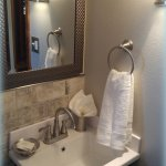 Ponderosa Pine Suite's updated private bath.