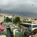 view from bus top