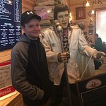 With the Elvis statue @ Hog Wild