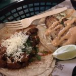 One fish and one pork taco!