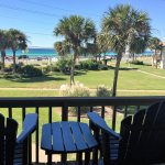Upstairs balcony off the living room of Unit 3  offers a stunning oceanview and the commons' are