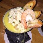 Crab tini and house salata
