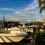 Here is a view of the boats docked at Miceli's Restaurant