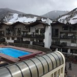 Room 313, balcony, you can see the pool, hot tub is further left, you can watch kids and skiiers
