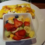 omelette with a side of fruit