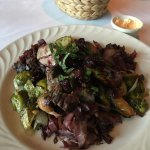 Grilled Duck w/ Duck Sausage, Brussel Sprouts