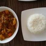 vegie curry and rice