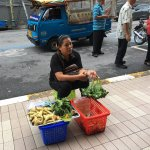 Hawker at the five-foot way of the hotel