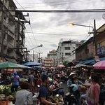 Morning market opposite the market