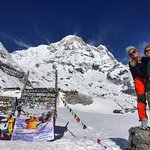 on top of Annapurna Base Camp