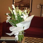 A stunning boquet of lillies