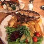 Steak n prawns yum!!