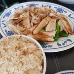 Hainan Chicken Rice and comes with small bowl of broth ..
