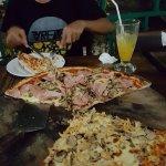 massive pizza