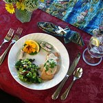 Special touches: local seafood, organic greens, all made with love