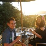 Dining and sunset at Kokohuia Logde