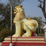 Lion at Kaunghmudaw Pagoda