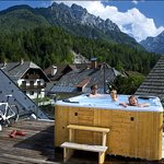 Luxury apartment´s (AP1) sunny terrace with a hot tub