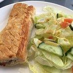 Sad sausage roll, at least the salad was fresh if uninspiring.