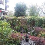 Petit jardin devant l'hôtel