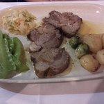 Les plats : veau  (très bon)