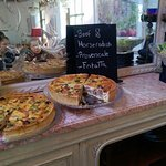 A selection of the fresh homemade quiches