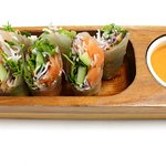 Cured salmon fresh spring roll
