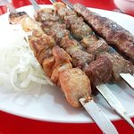 Kebab, lamb BBQ and chicken BBQ