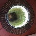 Old Well with glass top in Breakfast Room