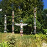 Panorama of the Brockton Point Totem Poles...