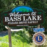 Bass Lake, IN welcome sign