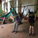 The hammocks were popular with the kids & adults alike!