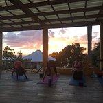 View From Yoga Platform at Sunset