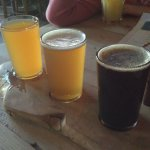 Trio of taster ales.. a third of a pint each.