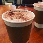 Warm and creamy hot chocolate