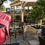 Our Patio - a great place to enjoy a glass of wine or a nice cold beer.