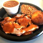 Pork Plate with Stew and Beans