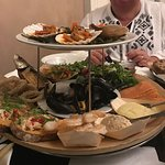Took my wife and son for a sea food platter cost £45 but worth every penny.