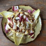 Endive, pine nut and gorgonzola salad