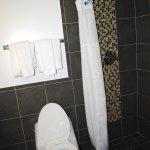 No tub. Shower has no place to put soap.