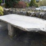 Lovely old slate tables!