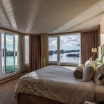 Master bedroom with Victoria Inner Harbour view.