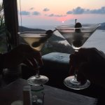 toasting our last night of our fabulous get away while watching the sunset