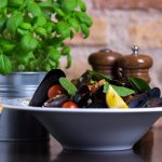 Belgian mussels in fresh tomato sauce