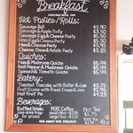 Menu - Breakfast Items