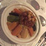 Couscous végétarien et tajine poulet citrons et olives