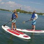 Paddle boarding in Jupiter Inlet