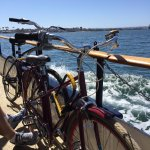Our borrowed bicycles on the ferry to Coronado